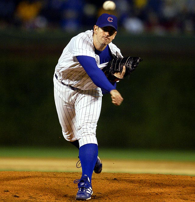 Oct 3, 2003 - NLDS Game 3  Line: 9.0 IP, 2 H, 1 ER, 4 BB, 7 K  It was a pitcher-perfect evening in October 2003 when four-time Cy Young Award winner Greg Maddux faced what many thought was a Cy Young waiting to happen in Mark Prior.  Making his postseason debut after his best year in the majors, Prior stymied the best offense in the NL by throwing nine innings of two-hit ball.  He was the first Cub to throw a complete game in the postseason since Claude Passeau did so in 1945. Unfortunately, this was not a harbinger of things to come for the young Prior.