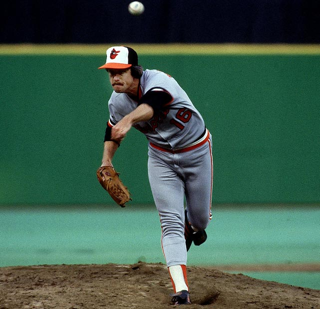Oct 6, 1979 - ALCS Game 4  Line: 9.0 IP, 6 H, 0 ER, 1 BB, 4 K  The California Angels made the postseason for the first time in 1979, the same year that Scott McGregor made his postseason debut. Unfortunately for the Angels, McGregor loved the pressure of the postseason.  He marched out to the mound and threw nine shutout innings against a helpless Angels offense.  It wasn't a luck outing for McGregor either.  In four postseason appearances, he had an ERA of 1.63.