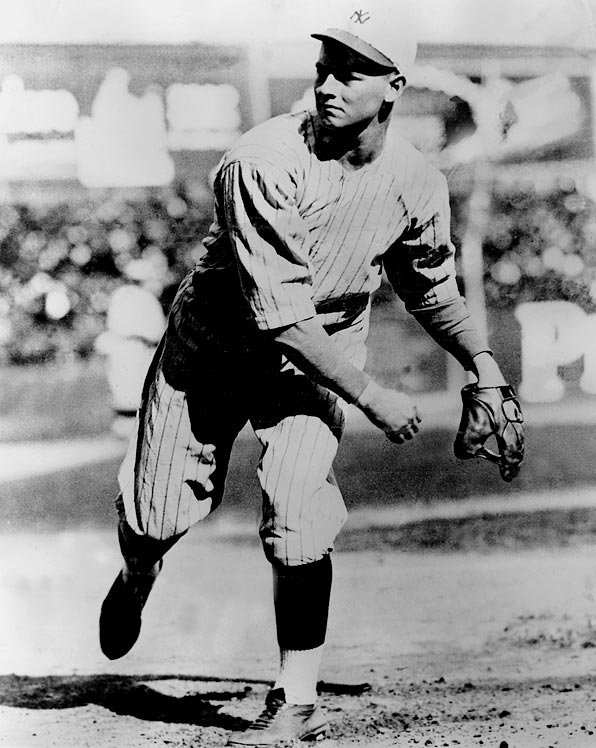 Oct 6, 1921 - WS Game 2  Line: 9 IP, 2 H, 0 ER, 5 BB, 5 K  Waite Hoyt was the ace of the famed 1927 Yankees staff, but before then he was the third-best pitcher on the 1921 squad that faced the crosstown Giants in the World Series.  Hoyt would pitch three complete game shutouts, the best of which was his postseason debut: nine innings of two-hit ball.