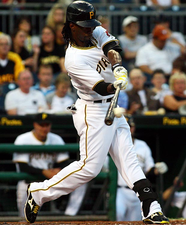 Known primarily for his speed, McCutchen showed flashes of power during Pittsburgh's 2010 season.  The outfielder blasted 16 home runs, a number that finished second on the Pirates' roster behind first baseman Garrett Jones' 21.
