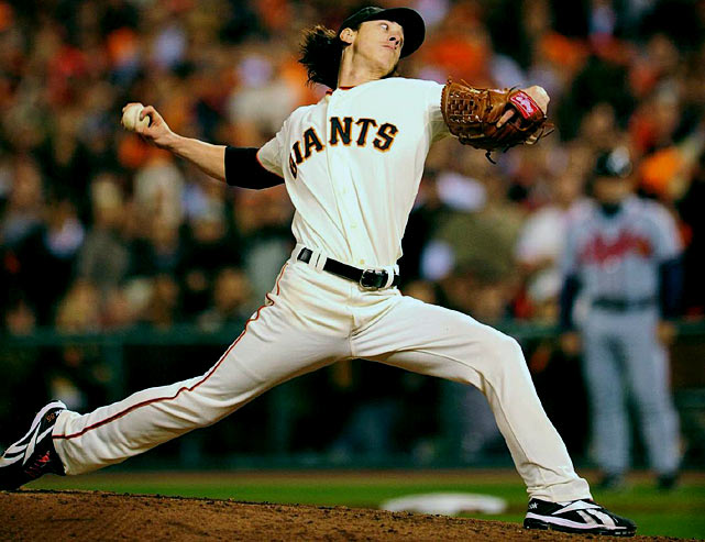 In his first postseason start in his prodigious three-year career, Tim Lincecum was nothing short of masterful in Game 1 of the NLDS.  The Freak struck out 14 Braves -- a San Francisco playoff record -- while tossing a complete game, 1-0 shutout.  The Giants went on to eliminate Atlanta in four classic games.