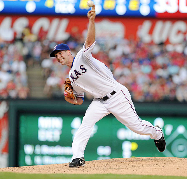 In one of the biggest trades in franchise history, the Rangers acquired superstar pitcher Cliff Lee from the Mariners in exchange for highly-touted first base prospect Justin Smoak, among others.  The lefty ace had a tumultuous season in Arlington -- going just 4-6 with a 3.98 ERA -- but would showcase his brilliance in the postseason.  Lee was just one of a few key mid-season pickups for the Rangers, as they also obtained catcher Bengie Molina, infielder Jorge Cantu and outfielder Jeff Francouer to help remake their roster.