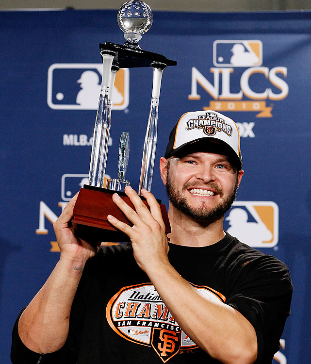 The Marlins gave away Ross to the Giants on waivers in August, and the Giants may not have even wanted him. Many say they claimed Ross to keep the Padres from nabbing him. Either way, he paid big dividends in the NLCS, hitting .350 with three home runs -- two in Game 1 alone -- to earn MVP honors against the Phillies.