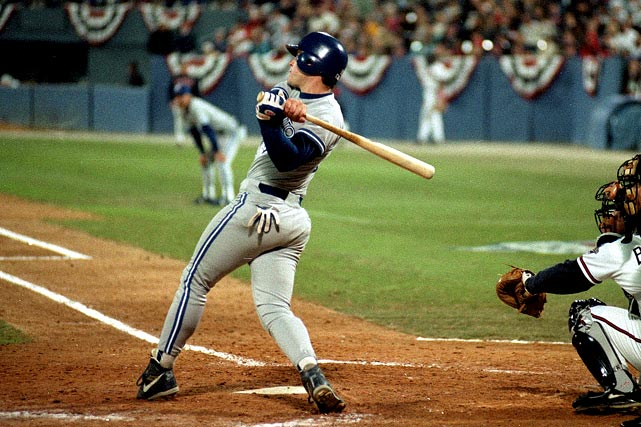 Relatively quiet throughout the 1992 Toronto Blue Jays season, backup infielder Ed Sprague amassed just 47 at-bats during 22 games played.  He created quite a stir during the World Series, however, when the second-year player whacked an unlikely two-run homer in the top of the ninth to lead the Jays to an incredible 5-4 victory in Game 2.  Sprague and Co. would ride that momentum for the rest of the series, taking out the Atlanta Braves four games to two.