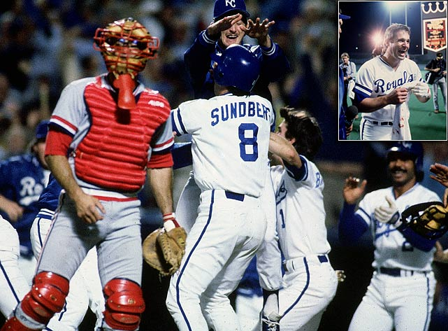 Known for his defensive prowess, catcher Jim Sundberg was offensively spectacular during Game 7 of the 1985 ALCS.  The Royals' backstop went 2-4 with four RBIs, including a momentum-shifting, three-run triple to help  lead Kansas City past the Toronto Blue Jays and into the World Series.  Sundberg made his mark on Game 6 as well, scampering home to give the Royals a 3-2 lead in the 6th inning, an advantage that they'd never relinquish.