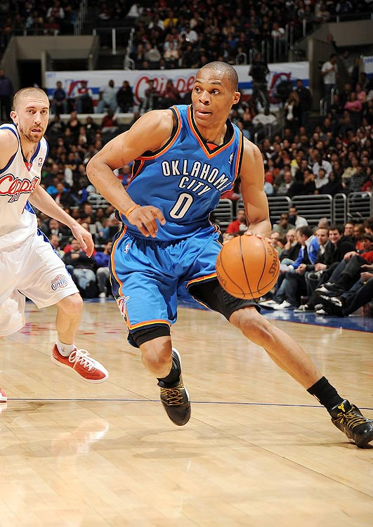 2009-10 Key Stats: 16.1 ppg | 8 apg | 1.3 spg | 4.9 rpg   Though he's likely a third or fourth rounder in most drafts, Russell Westbrook has the talent to be a top-five point guard.  He can score on anyone in the league, he's a great rebounder for a guard and he plays alongside one of the best catch-and-shoot scorers in the league in Kevin Durant.  Like Rajon Rondo, Westbrook has no shooting range.  Luckily, though, there are ample three-point shooters available later in your draft.