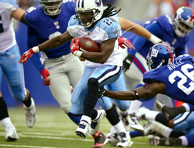 Realizing he was a steal in 2009, Chris Johnson campaigned for a contract extension before the 2010 season.  The Titans opted for some creative accounting instead, meaning 2009's leading rusher is still a bargain.  Though Johnson's numbers are down somewhat in 2010, he's still in line for a huge payday at season's end.