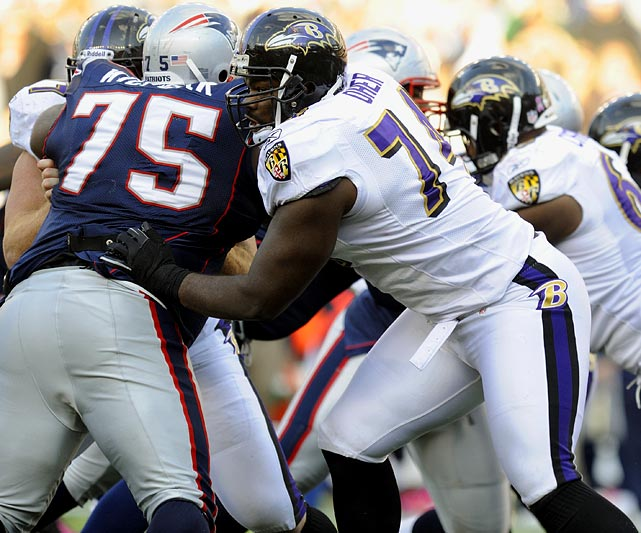 The Ravens didn't need an offensive lineman in the 2009 draft, but as a team that always drafts the best available player, they couldn't pass up Michael Oher, the massive stalwart.  Oher has done everything for the Ravens, including switching between left and right tackle before digging in as Flacco's blind-side protector this season.  He's quickly ascending to elite offensive lineman status, and the Ravens are counting their lucky stars that they have him for so cheap.