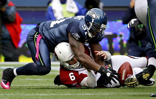 While making the first road start of his career in a Week 7 game at Seattle, Max Hall left in the third quarter with a concussion. The injury occurred on a blindside sack by Chris Clemons.