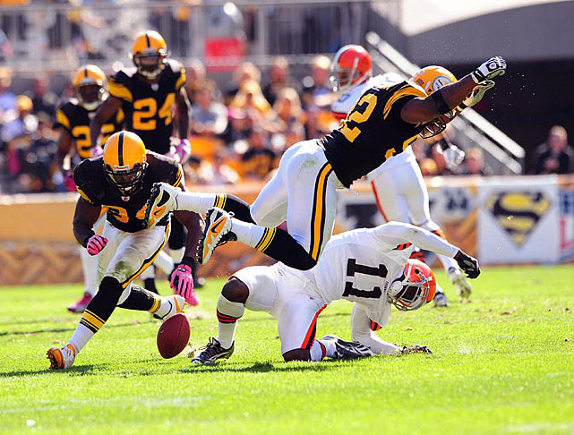 James Harrison's big hit on Mohamed Massaquoi in Week 6 helped usher in a turning point for defenses in the NFL. The Steelers linebacker had two helmet-to-helmet shots in the Steelers-Browns game, resulting in a $75,000 fine and a warning by the NFL that it would start to crack down on defenders who resorted to unnecessary roughness. Harrison briefly considered retiring in protest, while other defenders decried the edict.