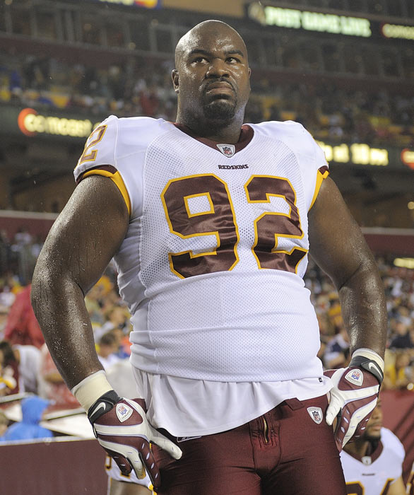 Haynesworth's tenure in Washington hasn't just been maddening to the Redskins coaching staff and fans as he received five percent of the votes from his fellow players.