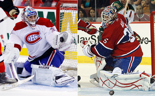 The Canadiens aren't as strong in goal as a year ago, but it isn't Price's fault. He played pretty well last season and will do so again. It's just that Jaroslav Halak played better during the playoffs and now he's in St. Louis. The Habs obviously don't expect journeyman backup Alex Auld to carry them if Price melts in the heat of the unrelenting pressure of Montreal.    Click HERE  for Darren's take on the goaltending trend in the NHL.