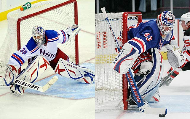 Lundqvist is a proven commodity at this point -- durable and dependable. So, too, is journeyman Biron. Yet, Lundqvist's down and deep approach might need a little spiffing up this season, as shooters around the league seem to be finding some cracks in King Henry's once almost impenetrable armor -- not a good development for a team that often struggles to score.    Click HERE  for Darren's take on the goaltending trend in the NHL.
