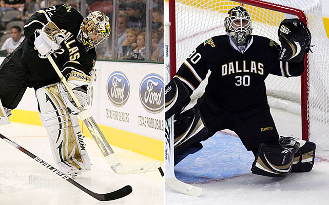 In Lehtonen and Raycroft, the Stars have the NHL's castoff coupling. Raycroft, a former NHL Rookie of the Year, is now a journeyman backup. Lehtonen, the second overall pick in the 2002 draft, is getting a second chance to establish himself. Maybe he will, but probably not, especially given the caliber of this rebuilding team.    Click HERE  for Darren's take on the goaltending trend in the NHL.