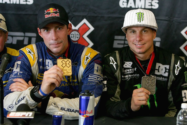 Beating out Tanner Foust, Dave Mirra and Ken Block, Pastrana rebounded at X Games 14, winning the gold medal in rally.