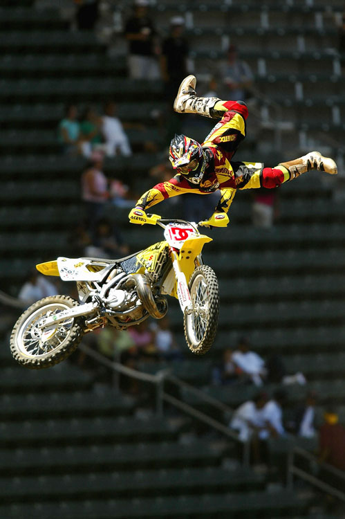 His death-defying tricks have long made Pastrana an X Games favorite, though he's shied away from FMX is recent years.