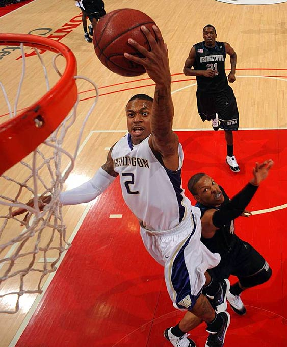 Thomas may be only 5-foot-9, but he's one of the toughest, gutsiest players in America. The junior guard is a very creative player on the offense end of the floor, with the ability to score on the perimeter or knife into the lane for an acrobatic deuce. And when the defense hones in on Thomas, he regularly sets up teammates for an easy buckets. Although consistency was a bit of an issue to start last season, he played his best ball down the stretch and was named first team All-Pac-10 and the Pac-10 Tournament's Most Outstanding Player.