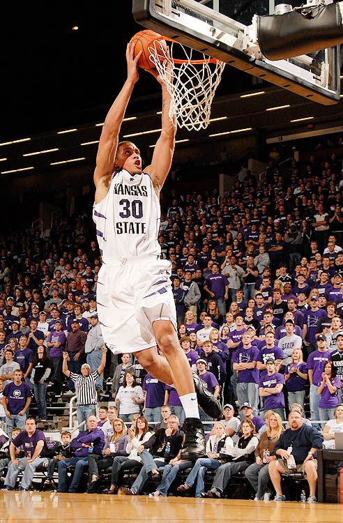 Michael Beasley enrolled at Kansas State and effortlessly led the country in rebounding with 12.4 per game. He combined this with a 26.2 ppg, and led the Wildcats to the NCAA tournament, where they lost in the second round. He was named first-team All-America and was a finalist for the Naismith Award.