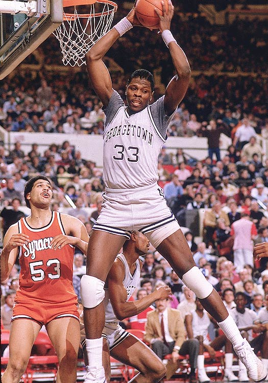 While Patrick Ewing never made wearing T-shirts under your jersey cool, his time at Georgetown transformed the school from an also-ran to a perennial Big East contender. Ewing blocked 3.2 shots per game as a freshman and led his Hoyas to the national title game, the first of three trips Ewing would make while at Georgetown.