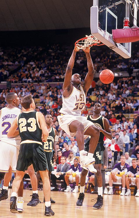 Sharing the spotlight with former freshman-sensation Chris Jackson, Shaquille O'Neal wasn't given the full opportunity to shine during his freshman season at LSU. Nevertheless, he made his impact felt in other ways, tallying 12 rpg, 3.6 bpg and an efficient 57.3 field goal percentage.