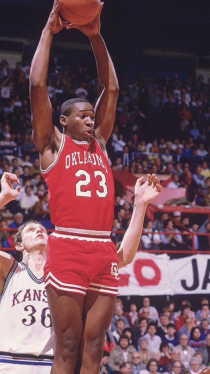 When the Big 12 was still the Big 8, a big man named Wayman Tisdale dominated the conference. He averaged 24.5 ppg, 10.3 rpg and 2.5 bpg and was named the Big 8 Player of the Year as well as first-team All-America.