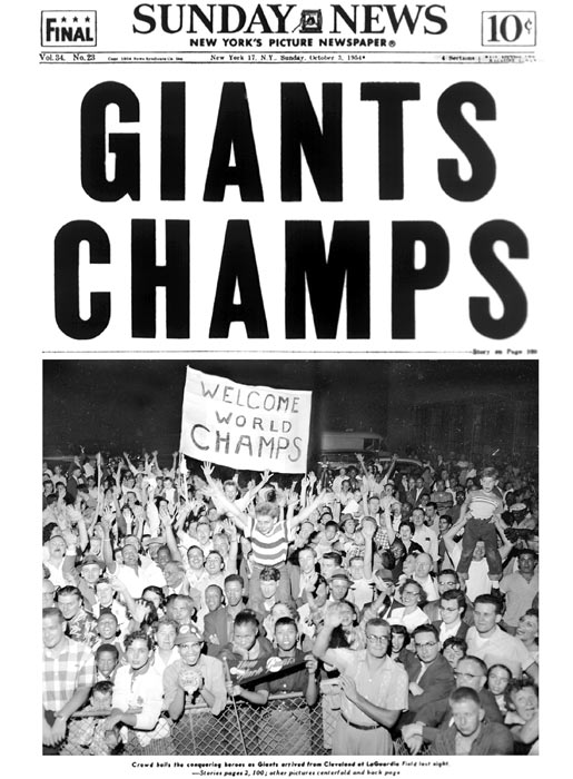 After losing Game 3, the Giants came back to win game 4 and capture the World Series title.