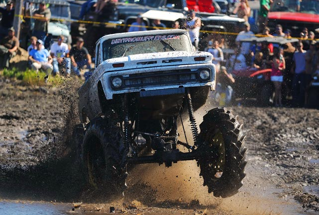 Matt Smith of Dallas, Ga., in his 1966 Chevrolet C-10 at the Pudding Creek Mud Bogging Festival Oct. 23 in Perry, Fla.