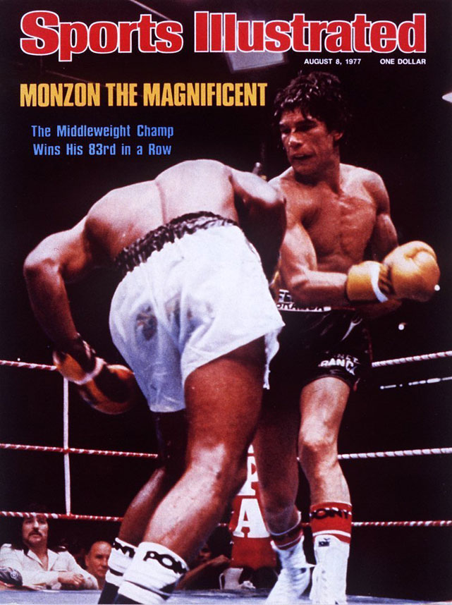 After three defeats in his first two years as a pro, Monzon never lost again. The Argentine legend became champ with a 12th-round knockout of Nino Benvenuti and made a then-record 14 middleweight title defenses against the likes of Emile Griffith (twice), Denny Moyer, Bennie Briscoe and Rodrigo Valdez (twice).