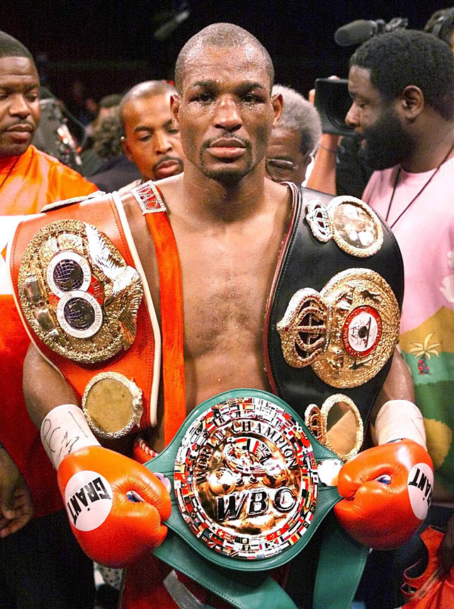 The Executioner, who made a division-record 20 title defenses between 1995 and 2005, finally inherited the vacant lineal championship by winning Don King's much-hyped middleweight unification tournament in 2001. (He upset Felix Trinidad on a 12th-round TKO in the final.) Hopkins lost the title to Jermain Taylor on a split decision, the North Philadelphia native's first loss in more than 12 years.