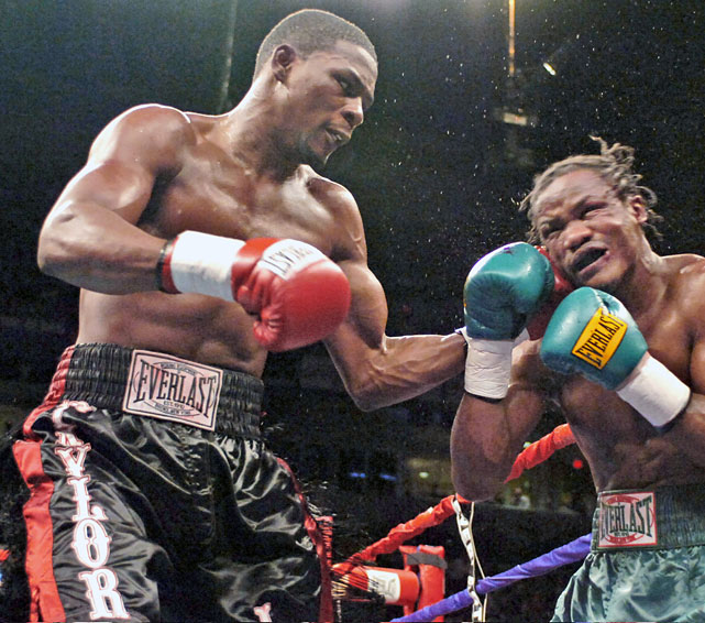 Taylor, who won a bronze medal at the Sydney Olympics in 2000, defeated Bernard Hopkins on a split decision for the undisputed middleweight title. The Little Rock, Ark., native won the rematch with Hopkins, fought Winky Wright to a draw and defeated Kassim Ouma and Cory Spinks before losing the title to Kelly Pavlik.