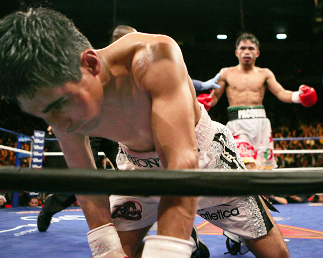 The rematch between Pacquiao and Morales lived up to advance billing through nine grueling rounds. It ended in the 10th, when Pacquiao avenged the previous year's defeat with a knockout of Morales -- the first of his career.