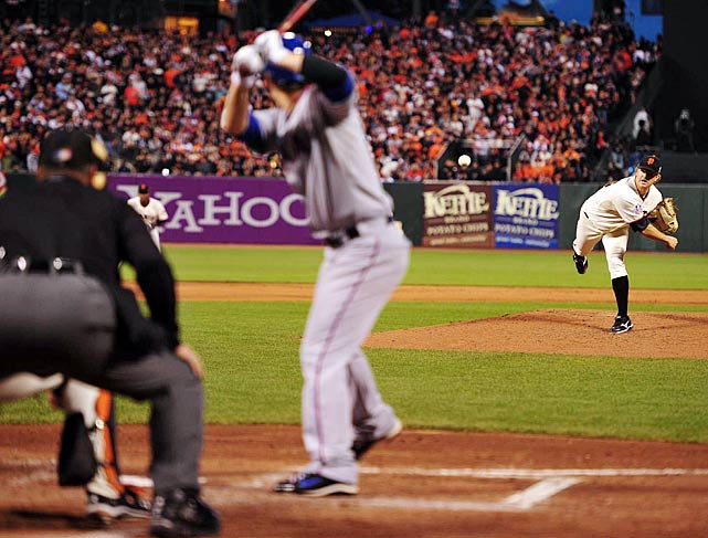 After piling up 13.2 scoreless innings in his NLDS and NLCS performances, Matt Cain had his best game in Game 2 of the World Series.  He tossed 7.2 shutout innings, outdueling Rangers' pitcher C.J. Wilson to give San Francisco a commanding 2-0 series lead.