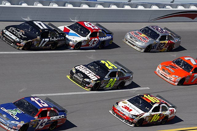 Cars reached more than 200 mph during the race at NASCAR's largest superspeedway.