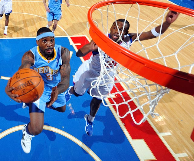 The speedy Ty Lawson is the perfect fit for Nuggets coach George Karl's fast-paced offense. Lawson, the 18th pick in the 2009 draft, is still establishing himself as a regular starter, but he's already proved to be a high-percentage shooter, solid playmaker and defensive pest.