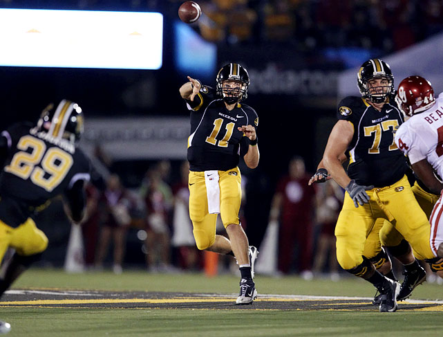 Gabbert, a junior, has a big league arm and a boatload of upside potential.   He also benefits from Missouri's wide open  offense and is a quarterback that must work on his mechanics and improve his  pass placement before he'll ever be an effective starter in the NFL.      2 nd  Round  Prospect