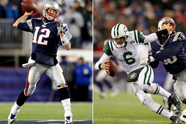 Hyped as the game of the year, the Week 13 showdown between the Patriots and Jets was decidedly one-sided.  New England dominated New York from the opening snap, handing Gang Green a 45-3 drubbing that left many doubting Rex Ryan's preseason Super Bowl promise.  Tom Brady was 21-of-29 for 326 yards and four touchdowns.  Mark Sanchez was 17-of-33 for 164 yards with three picks.