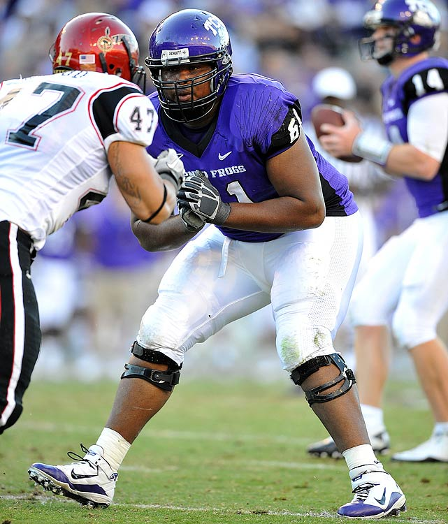 Cannon is another college blocker with the versatility to line up at several offensive line positions.  He's a wide-bodied lineman who moves well on his feet and has effectively manned the tackle position at TCU the past two seasons.  Most scouts project Cannon at guard in the NFL.  3rd/4th Round Prospect