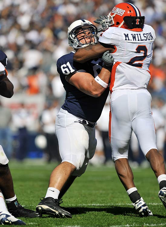 Wisniewski has been a reliable blocker on the pivot and dominates opponents much like his uncle, former All Pro guard Steve Wisniewski, did on the college level and in the professional ranks.  The senior is solid in all facets of the game and has the skills necessary to play in a variety of NFL systems. 2nd/3rd Round Prospect