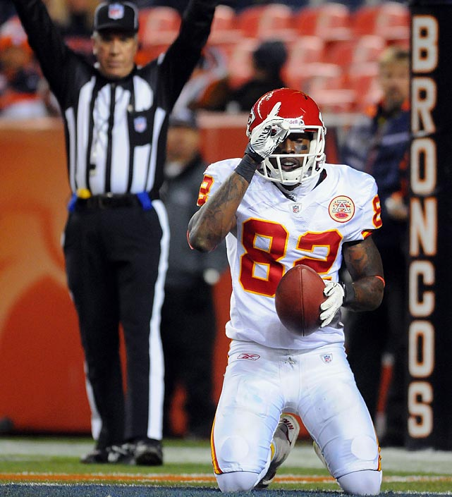 13 receptions for 186 yards and two TDs in 49-29 loss to the Broncos.