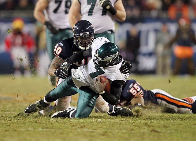 What was the key to stopping Eagles quarterback Michael Vick?  Was it a mobile defensive line led by Julius Peppers?  A robust offense led by Jay Cutler? No, if the Bears proved anything on Sunday, it's that the key to beating Vick lies in the turf.  Solider Field's soft sod led to a lot of slipping on both sides in the Bears-Eagles game, but a normally explosive Eagles offense looked a step slower than normal.  Will the Bears' technique catch on around the league?