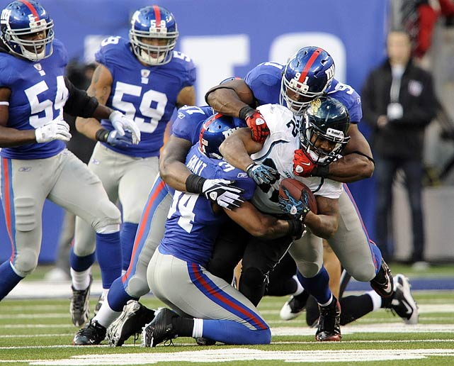After a 41-7 dismantling of the Seattle Seahawks, the New York Giants looked like the team to beat in the NFL.  Two-straight losses later, the Giants were rife with question marks.  None of those question marks disappeared when the team went to the locker room down 17-6 to the Jaguars at halftime.  Frustrated, Justin Tuck and Osi Umenyiora ripped into their teammates, imploring them to pick it up. The result? The Giants held the Jaguars to a field goal in the second half and won 24-20.