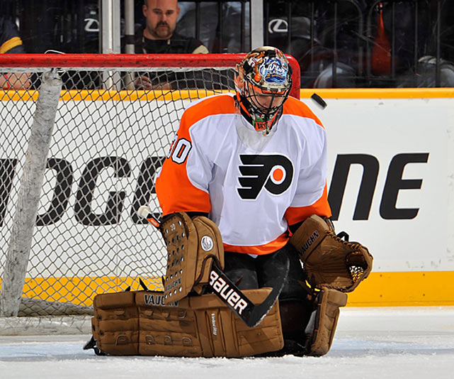 "Seeking to solve their age-old problem of instability in net, the Flyers signed Bryzgalov, 30, to a nine-year, $51 million contract in June 2011 after trading star forwards Mike Richards and Jeff Carter to clear cap space. The eight-year veteran was coming off an impressive four-season stint with Phoenix, where he was a 2009-10 Vezina Trophy finalist. Initially a popular and zany figure, thanks to HBO's 24/7 series (  CLICK HERE   to view a segment), Bryzgalov didn't seem to take well to the pressure in Philly. He played erratically, publicly criticized himself, and was upset to find Sergei Bobrovskystarting in the 2012 Winter Classic. After a shaky performance in the 2012 playoffs, Bryzgalov was ordered by GM Paul Holmgren to get his act together. ""His job is to stop pucks and help us win games,"" Holmgren said. ""It's not Comedy Central.""    CLICK HERE   to read Michael Farber's ""Bryzgalov is No Laughing Matter"""