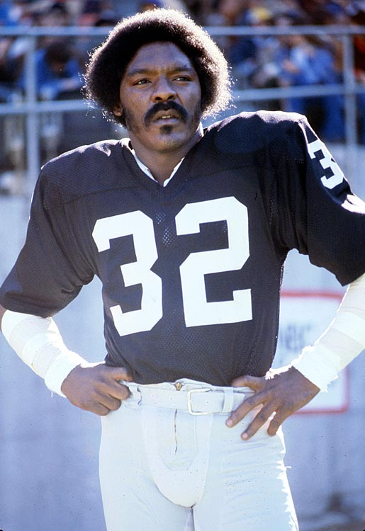 "Jack ""The Assassin"" Tatum was every bit as intimidating as his nickname suggests. Known as one of the hardest hitters of his era, Tatum spent eight seasons with the Raiders and collected 37 interceptions. He is best known for his hit on New England's Darryl Stingley during a 1978 preseason game, which left the Patriots wideout paralyzed from the chest down."