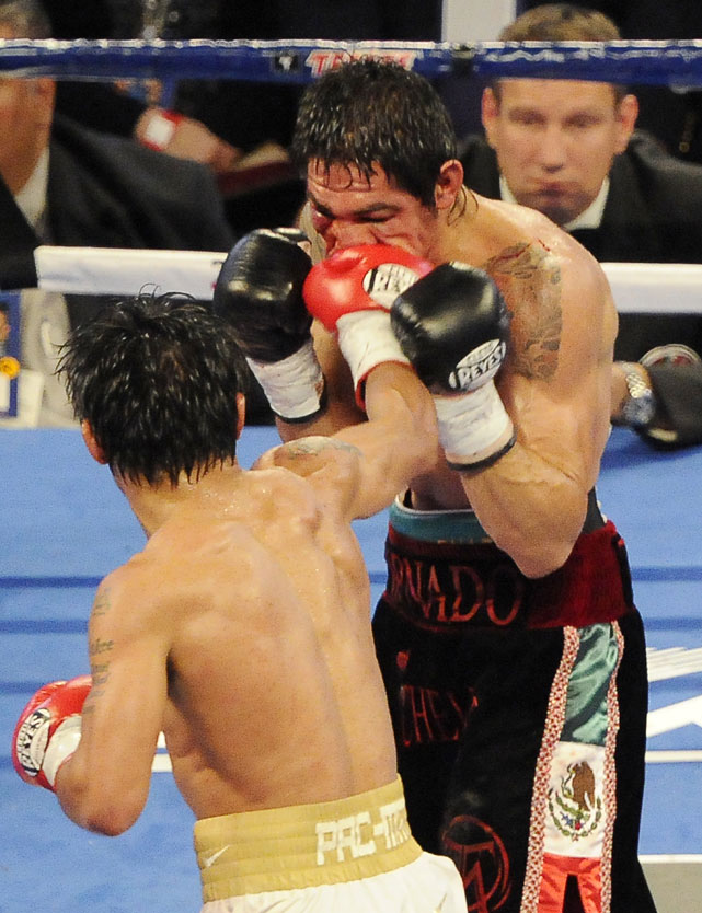 Pacquiao landed 474 of 1,069 punches, an impressive 44-percent connect rate.