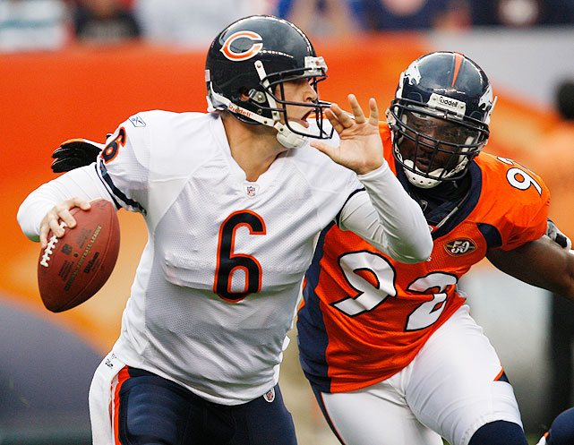 Despite hecklers numbering in the thousands, Cutler got the last laugh in his return to Denver, the city that drafted him with the 11th overall pick in the 2006 draft. After forcing a trade to the Bears in the offseason, Cutler marched into Denver and posted a 106.1 passer rating en route to a 27-17 Bears victory. By the end of the game, the aforementioned boos had shifted from Cutler to Broncos coach Josh McDaniels, who Broncos fans are still stuck with.