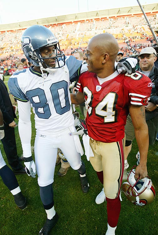 In what many thought would be his last appearance at Candlestick Park, Jerry Rice was a relative non-factor. He caught one five-yard pass and received a standing ovation. Rice would return to San Francisco in 2006, when he signed a contract with them, allowing him to retire as a 49er.