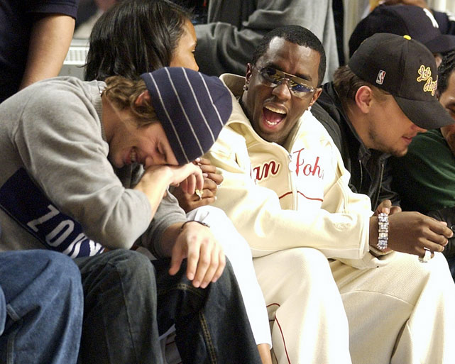 It's without fail: No matter the team, no matter the location, Diddy (the artist formerly known as Puff Daddy and P. Diddy) will somehow always be sitting courtside with at least a couple other famous people. In this shot, those lucky others are Ashton Kutcher and Leonardo DiCaprio.
