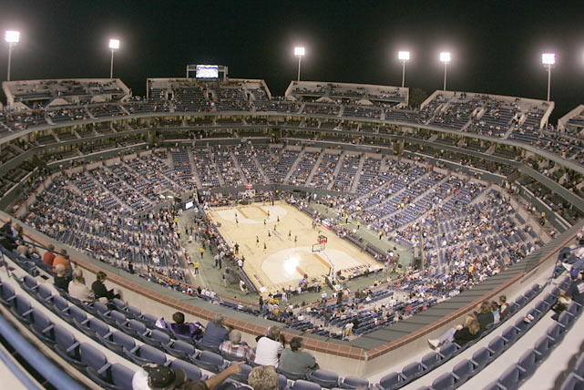 The NBA got into the outdoor act on Oct. 11, 2008, when the Denver Nuggets and Phoenix Suns faced off in an exhibition game at Indian Wells Garden, located just outside Palm Springs, Calif.