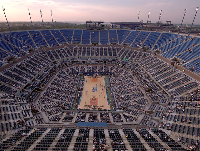 The WNBA hosted the first ever regular season outdoor game in pro basketball history when the Liberty took on the Fever at Arthur Ashe Stadium on July 19, 2008. The venue is host to the U.S. Open.