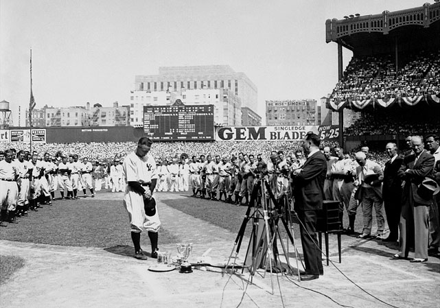 "Widely regarded as the most famous farewell speech of all time, Lou Gehrig said goodbye to baseball not by lamenting his unfortunate situation, but rather by taking the high road. ""I've been given a bad break,"" he concluded, ""but I've got an awful lot to live for."" The modern retiring athlete could learn a lot from the ""Iron Horse."""